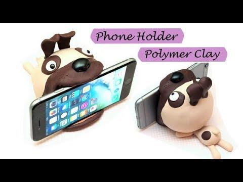 Phone holder|Polymer Clay (Fimo soft)| DIY