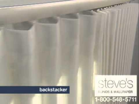 Levolor Perceptions Soft Vertical Shades - Backstacker Option