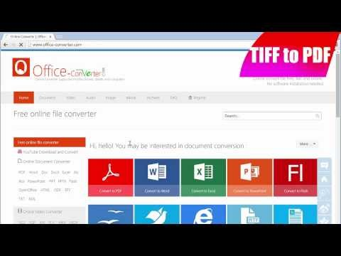 How to Convert TIFF to PDF