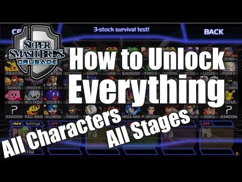 Super Smash Bros Crusade v0.9.1 - How to Unlock Everything