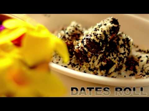 How to make Date Rolls | Date Roll Recipe | Dates And Nuts Roll