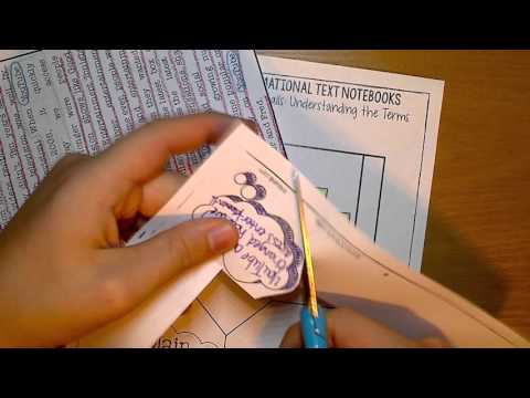 Main Idea & Supporting Details: Interactive Notebook Activity (IRITN L1)