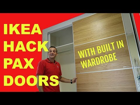IKEA HACK PAX DOORS WITH BUILT IN WARDROBE