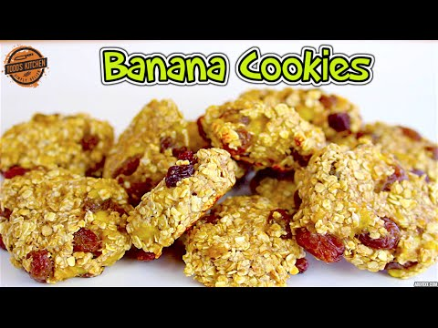 3 Ingredient Banana Cookies - Easy kids back to school recipe