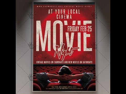 Movie Night - Premium Flyer PSD Template
