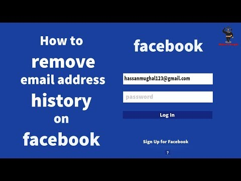 How to remove email address history on facebook (EasieST WaY!) // By Hassan Mughal