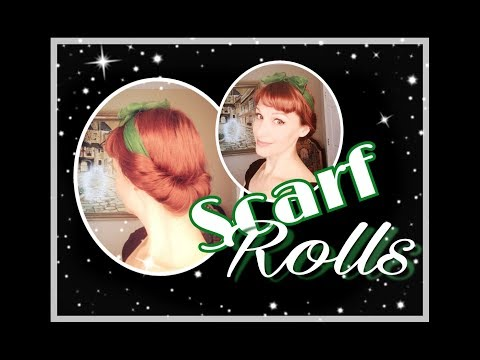 Scarf Rolls! Easy and Fast Vintage Hair