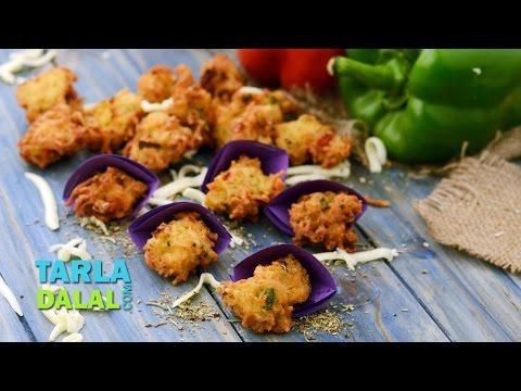 Herbed Maggi Fritters, Deep Fried Veg Starter by Tarla Dalal