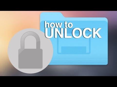 How to Unlock files on Mac Yosemite OSX unlock documents, unlock zip file