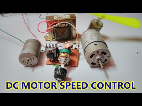Simple DC Motor Speed controller using LM317 Adjustable voltage regulator