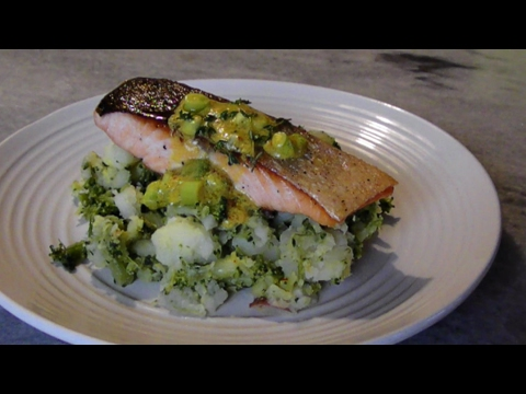 Crispy Salmon with Warm Potato & Broccoli Smash
