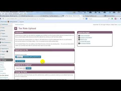 How to use the Tax Rate Upload plugin for WooCommerce