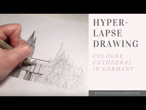 Hyperlapse Drawing of Cathedral || Cologne Cathedral