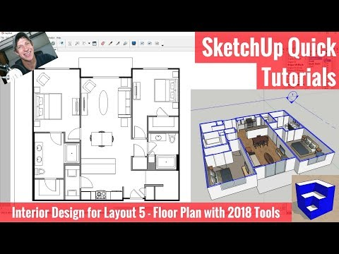 Creating a Floor Plan in Layout with SketchUp 2018's New Tools - Apartment for Layout Part 5!