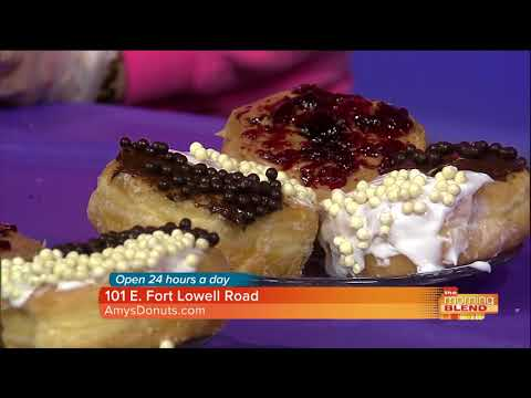 Yin Yang Pearls and Peanut Butter and Jelly donut with Amy's Donuts