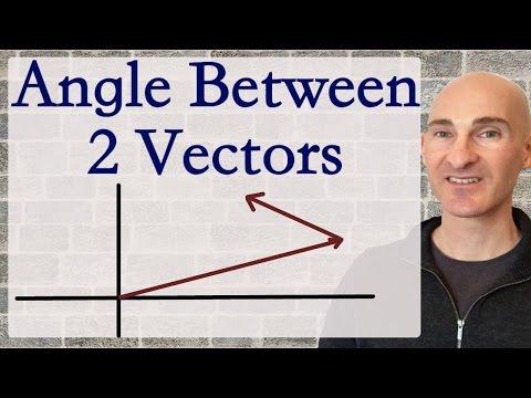 Angle Between 2 Vectors (Formula)