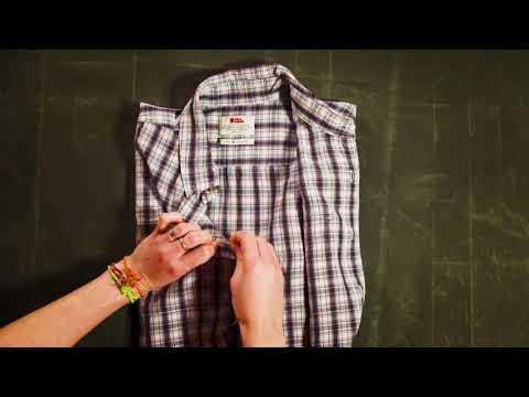 Fjällräven - How to sew a shirt button