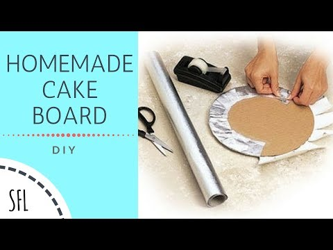DIY CAKE BOARD | HOMEMADE CAKE BOARD | Simple Frugal Life