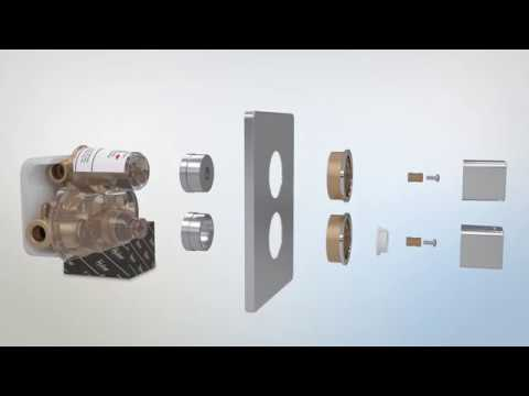 HUBER concealed thermostatic mixer ... how to install it