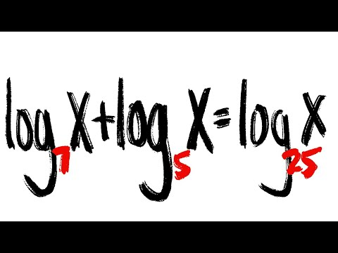 Log equation with different bases