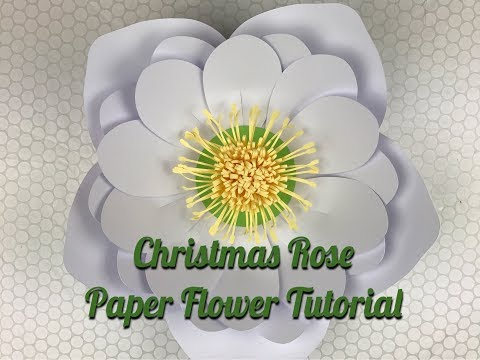 Christmas Flowers| Paper Christmas Rose | Using Template #15 & Template #17