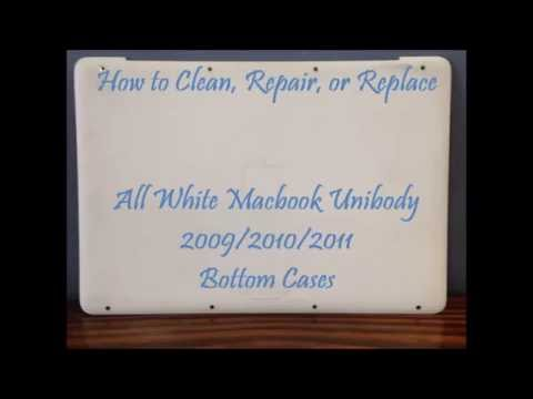 How to Clean Repair Replace Rubber Bottom Case White Macbook Unibody A1342 Laptop (2011 2010 2009)