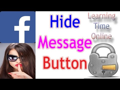 how to remove message option add friend button from facebook timeline