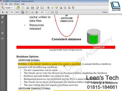 Oracle DBA 11g Tutorial in Bangla: Lesson#4 Part#4 Managing the Database Instance