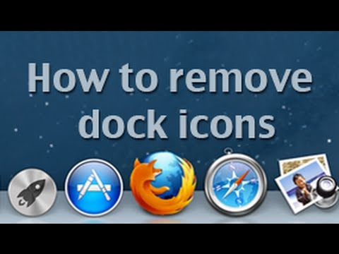 Removing docks icons in Mac OS X