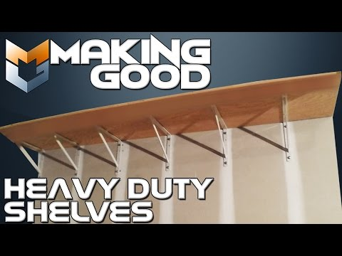 Making Good: Heavy Duty Wall Shelf