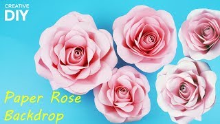 by creative diy how to make diy paper rose backdrop for wedding tutorial creative diy