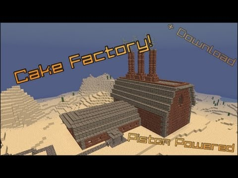 Minecraft CAKE FACTORY! [Redstone Powered] + World Download