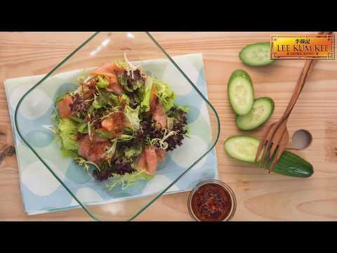 Smoked Salmon Salad With XO sauce by Lee Kum Kee