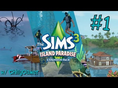 The Sims 3 : Island Paradise - (Part 1) - CAS & Building a Houseboat!!!