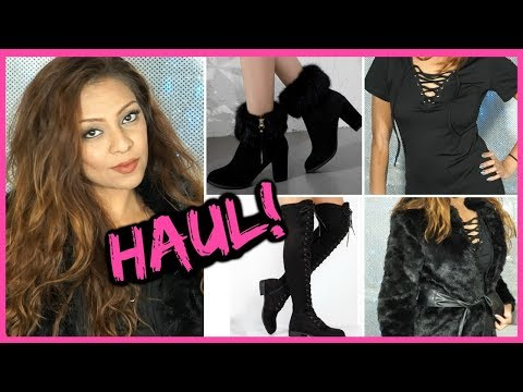 Sexy Clothing Try On Haul │ Affordable Online Fashion - Over The Knee Boots, Fur Coat & More