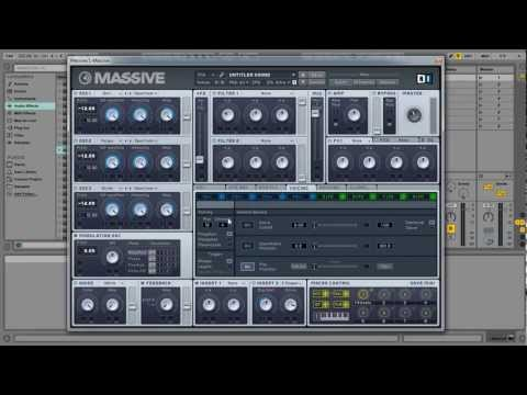 Skrillex Type Synth/Bass Dubstep Ni Massive Tutorial