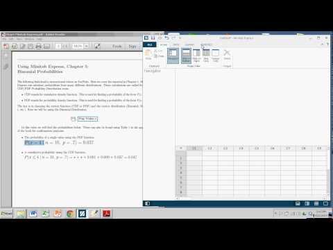 Binomial Probabilities with Minitab Express