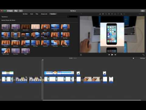 how to add transition in imovie?