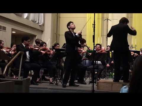 Angelo Xiang Yu, Violin of Beethoven's Violin concerto at Du Bois orchestra