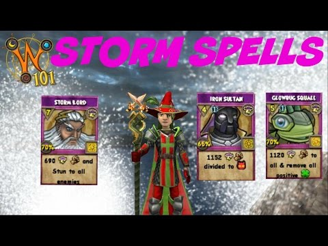 Wizard101: All Storm Spells Level 1-120 (2017)