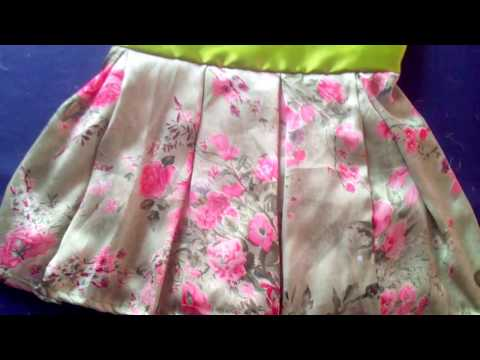 How to make Box Pleated dress, very simple pleat frock tutorial for beginners class