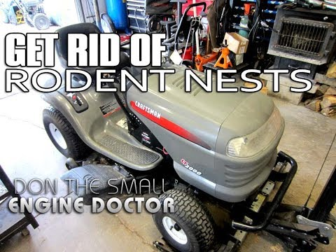 How-To Clean A Lawn Tractor Infested With Rodent Nests!