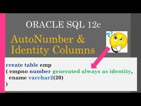 AutoNumber & Identity Columns in oracle / arabic