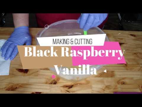 Making & Cutting Black Raspberry Vanilla Soap