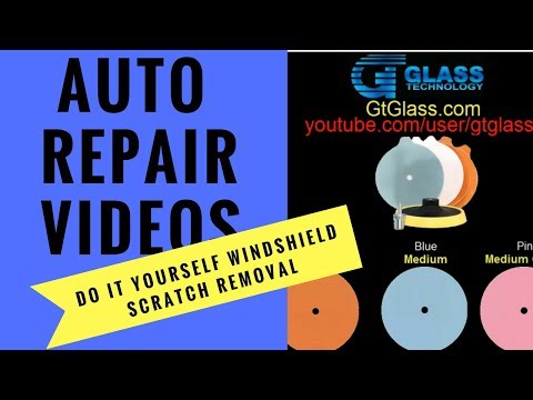 Do it yourself windshield scratch removal