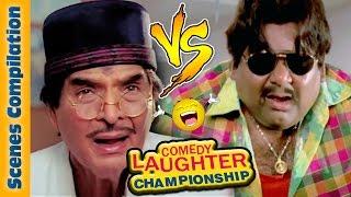 Asrani Comedy Scenes Vs  Satish Kaushik Comedy Scenes {HD} - 3 - Comedy Laughter Championship