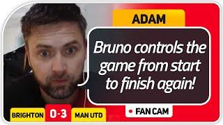 ADAM! BRUNO & POGBA DREAMTEAM! Brighton 0-3 Manchester United FanCam
