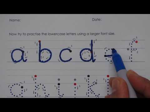 1. Write the English Alphabet - LOWERCASE letters