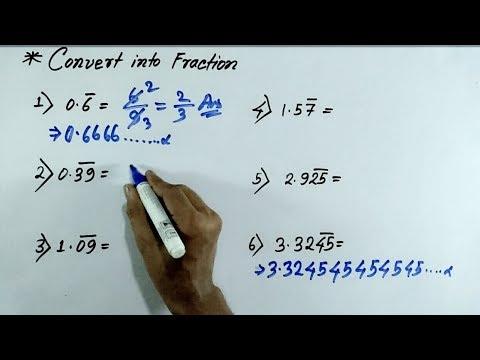 Maths Bar Questions short tricks | Mixed recurring decimals into vulgar fractions