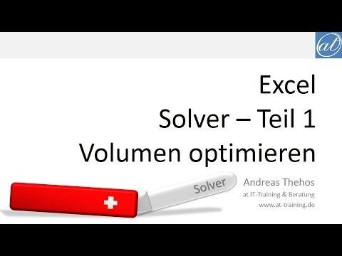 Excel - Solver Teil 1 - Beispiel: Volumen optimieren